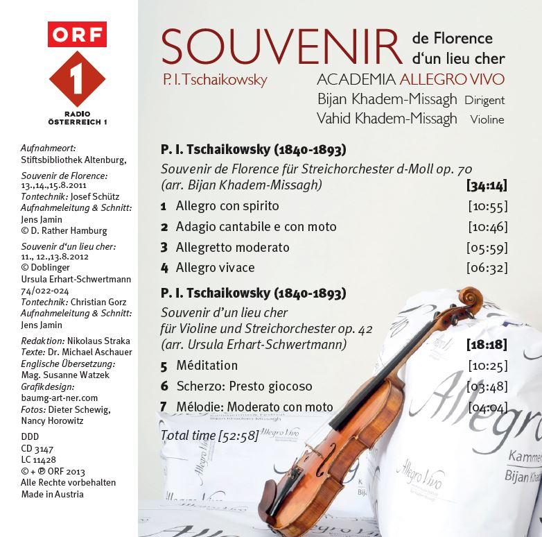 """CD """"Souvenirs"""""""